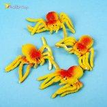Силиконовые пауки жёлто-красные оптом фото 014