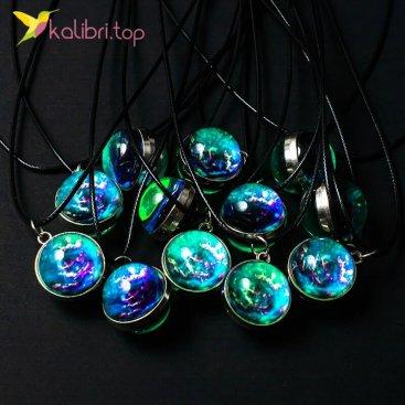 Светящиеся флуоресцентные кулоны сферы Вселенная оптом фото 01