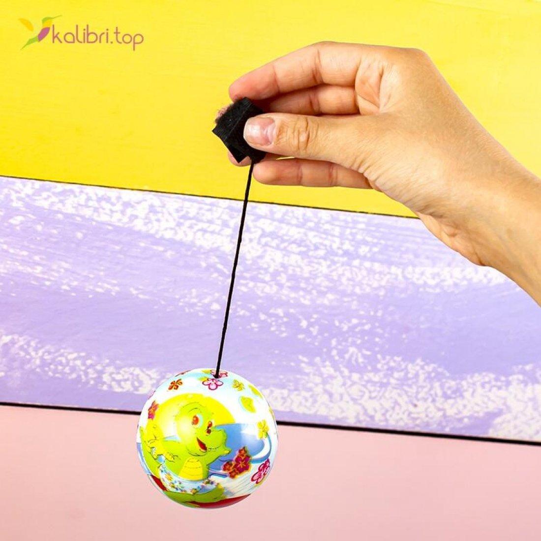 Купить поролоновые мячи Коровки на резинке 6,3 см оптом фото 02