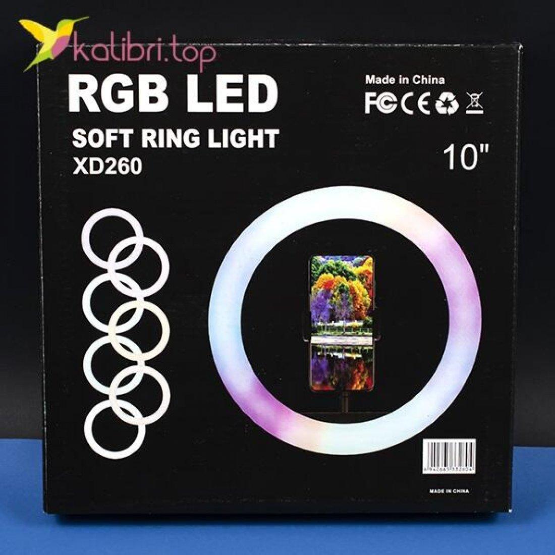 """Лампа для селфи RGB 10"""", 25 см оптом фото 04"""