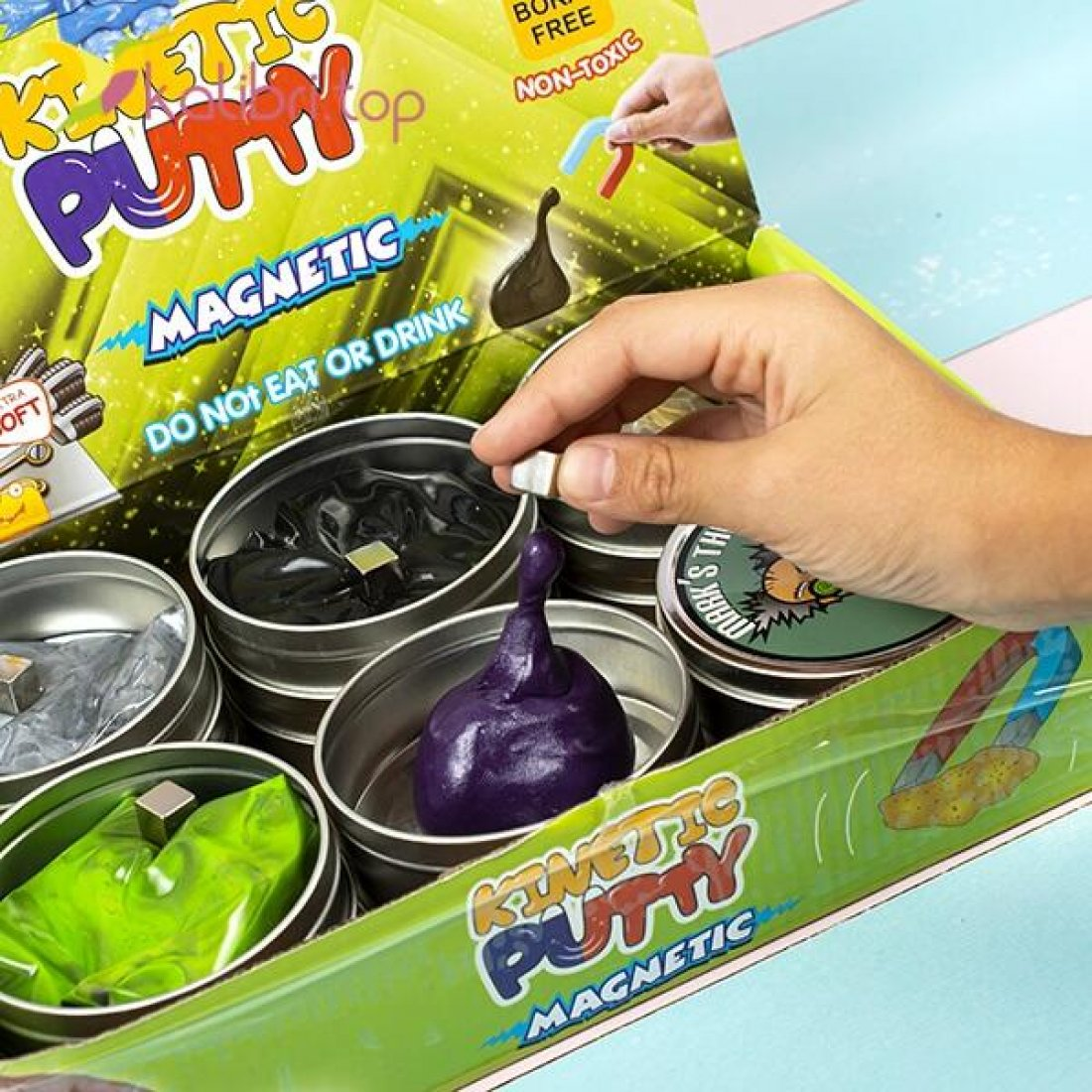 Жвачка для рук Kinetic Putty магнит оптом фото 01