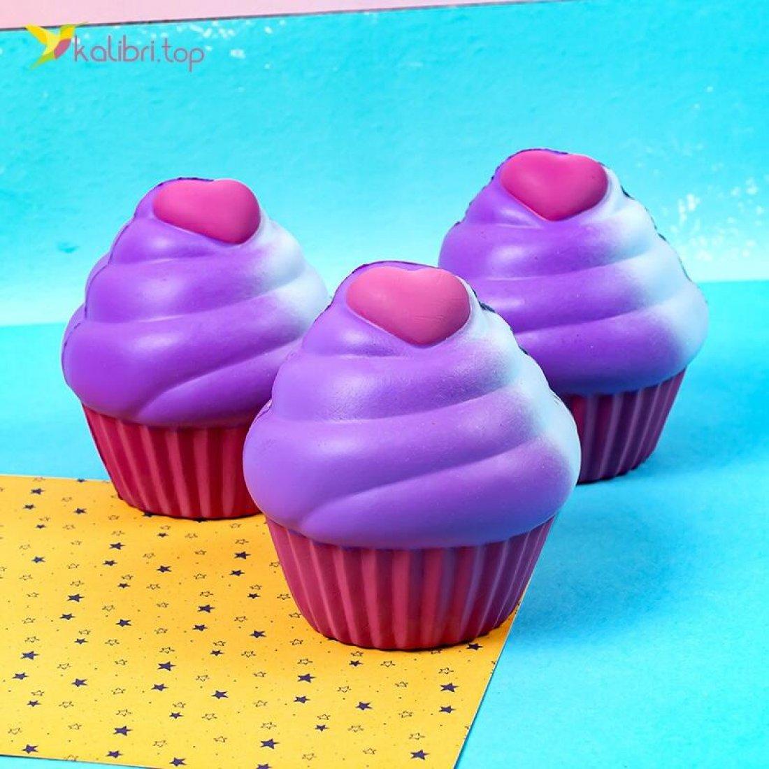 Сквиш кекс розовый оптом фото 01