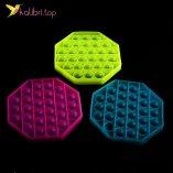 Поп-ит (pop-it) флуоресцентный восьмигранник оптом фото 01