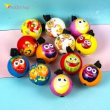 Поролоновые мячи Фрукты на резинке 6,3 см оптом фото 01