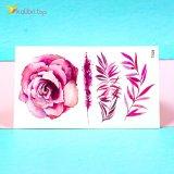 Детские переводные татуировки Цветочки красные оптом фото 02