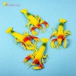 Резиновые раки жёлтые оптом фото 01