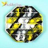 Пупырка Поп ит (pop-it) восьмиугольник чёрный оптом фото 01