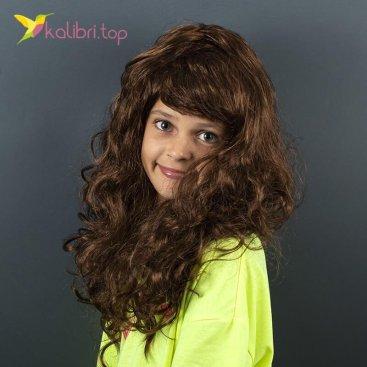 Карнавальный парик Каштановый оптом фото 01