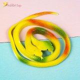 Силиконовые змеи кобры двухголовые жёлтые оптом фото 02