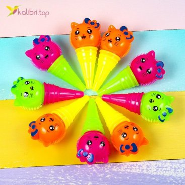 Светящиеся ежики котики в мороженом оптом фото 01
