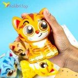 Игрушки сквиши Коты цветные оптом фото 02