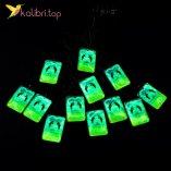 Кулоны светящиеся флуоресцентные Дельфины оптом фото 01