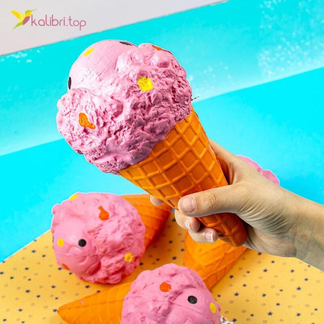 Купить Сквиш Мороженое оранжевое оптом фото 02