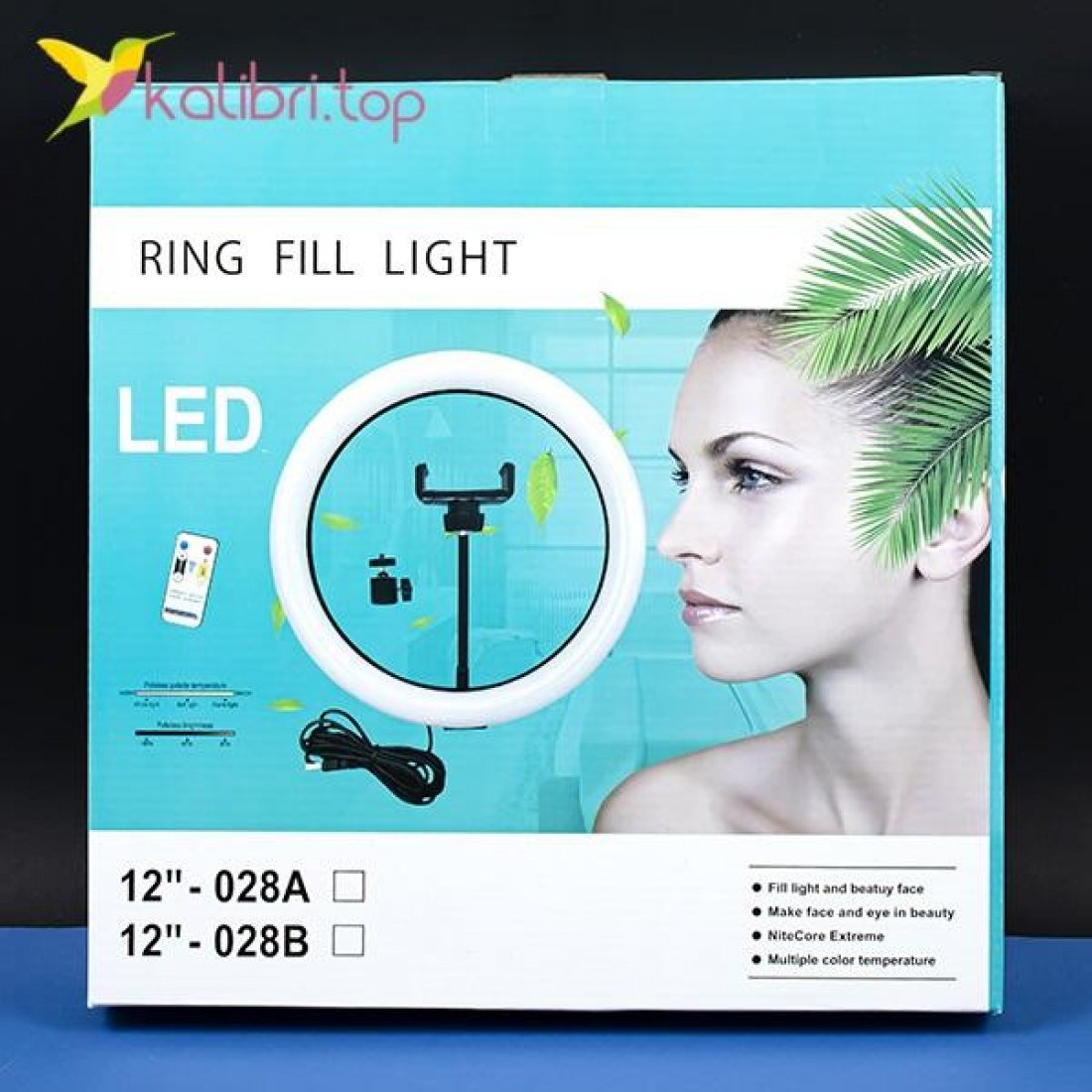 "Кольцевая лампа для селфи 12"", 30 см оптом фото 04"
