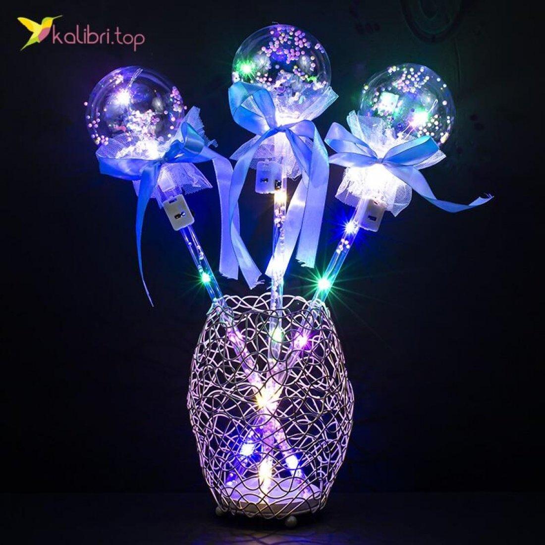 Светящиеся палочки Кругляшки голубой оптом фото 02