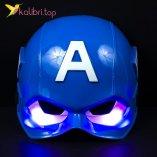 Светящиеся маска Капитана Америки Captain America оптом фото 01