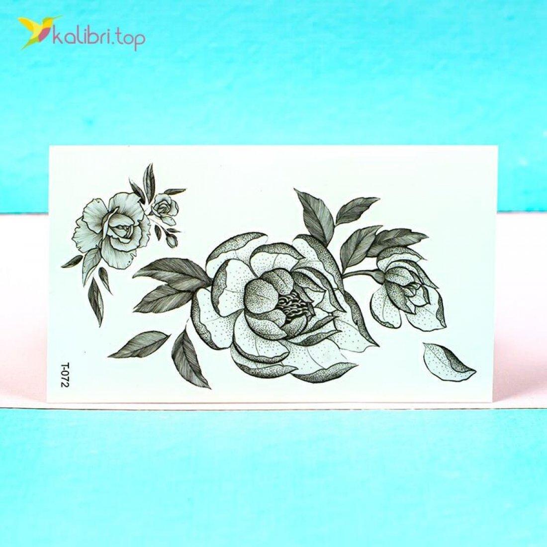 Детские переводные татуировки Цветочки оптом фото 01