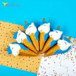 Сквиши мороженое рожок голубое оптом фото 01