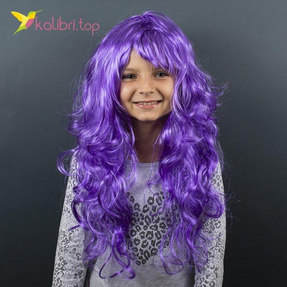Карнавальный парик Фиолетовый оптом фото 01