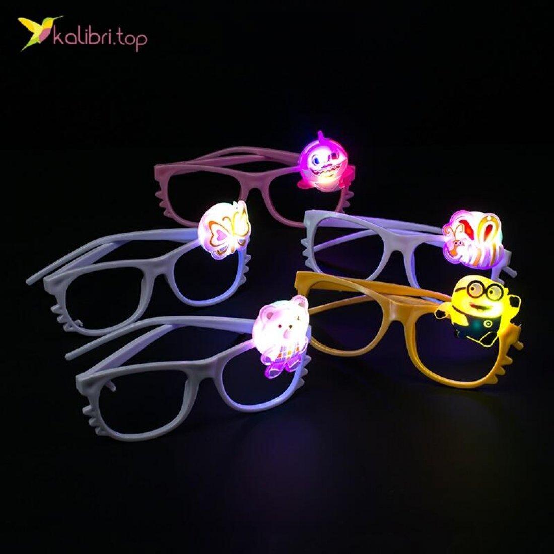 Светодиодные очки Микс мультяшек оптом фото 047