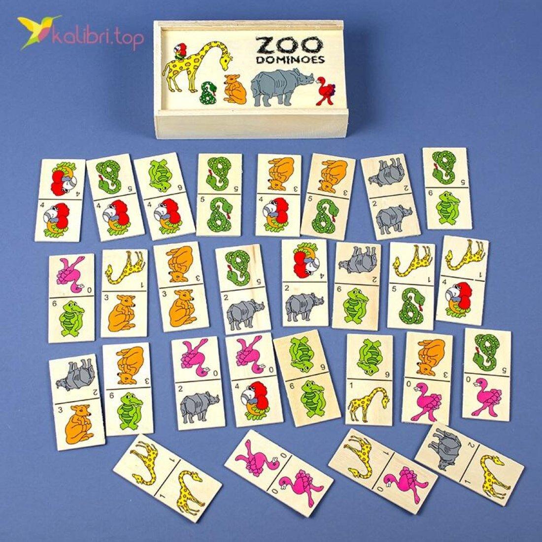 Купить детское домино Зоопарк оптом фото 274