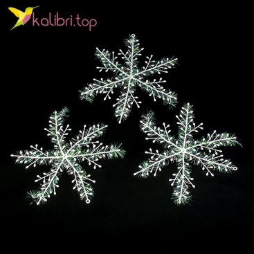 Новогодние снежинки 21 см оптом фото 02