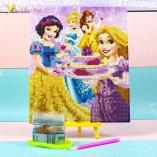 Алмазная мозаика по номерам Принцессы и торт 21*25 см оптом фото 011