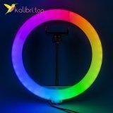"""Лампа для селфи RGB 10"""", 25 см оптом фото 01"""