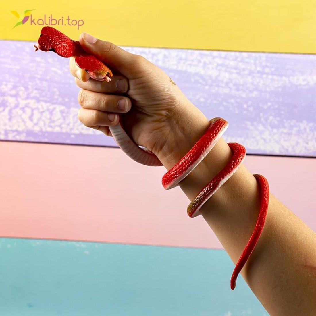 Силиконовые змеи кобры красные оптом фото 01