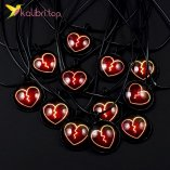Кулон светящийся флуоресцентный Сердце Красное оптом фото 01