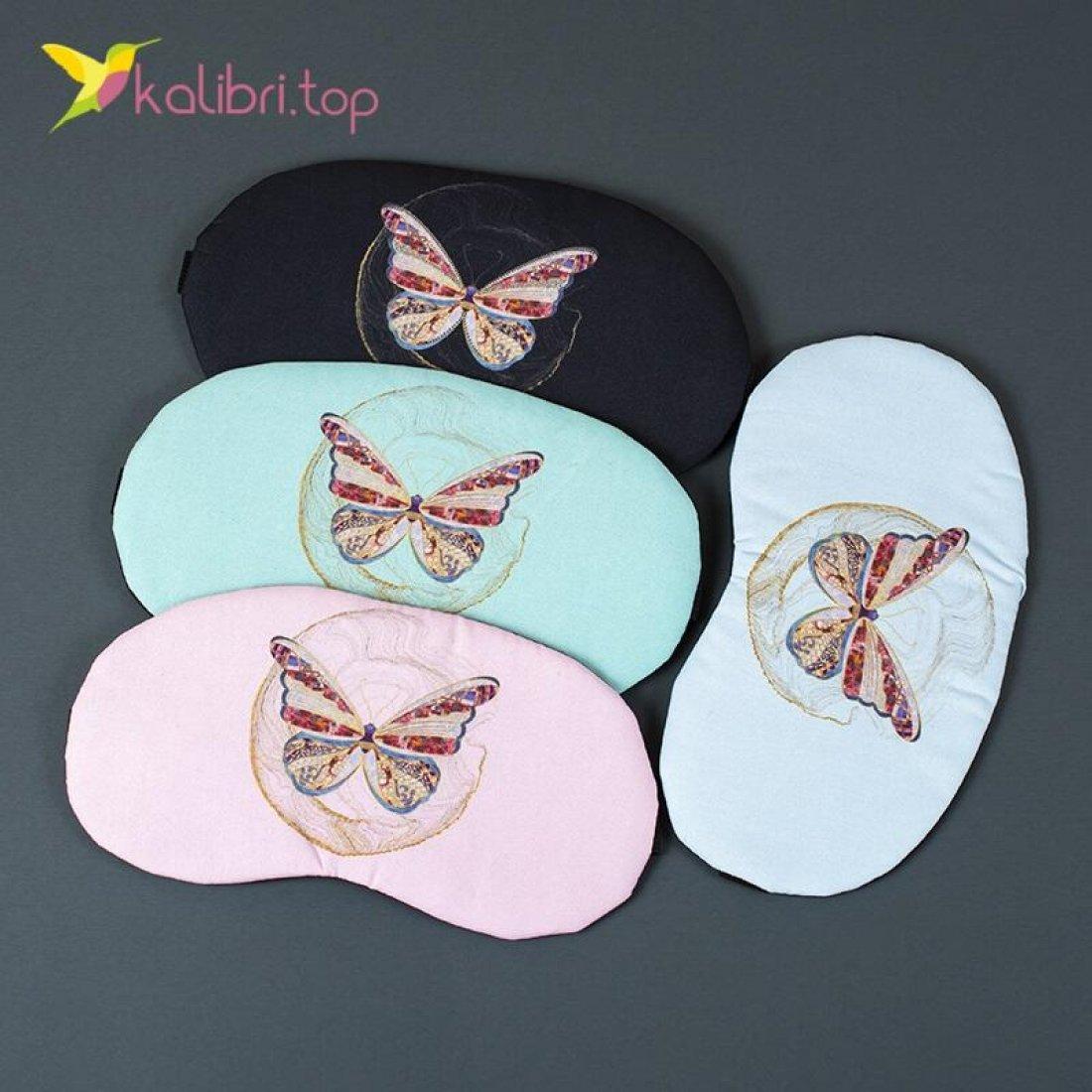 Маска для сна Бабочки цветные оптом фото 01