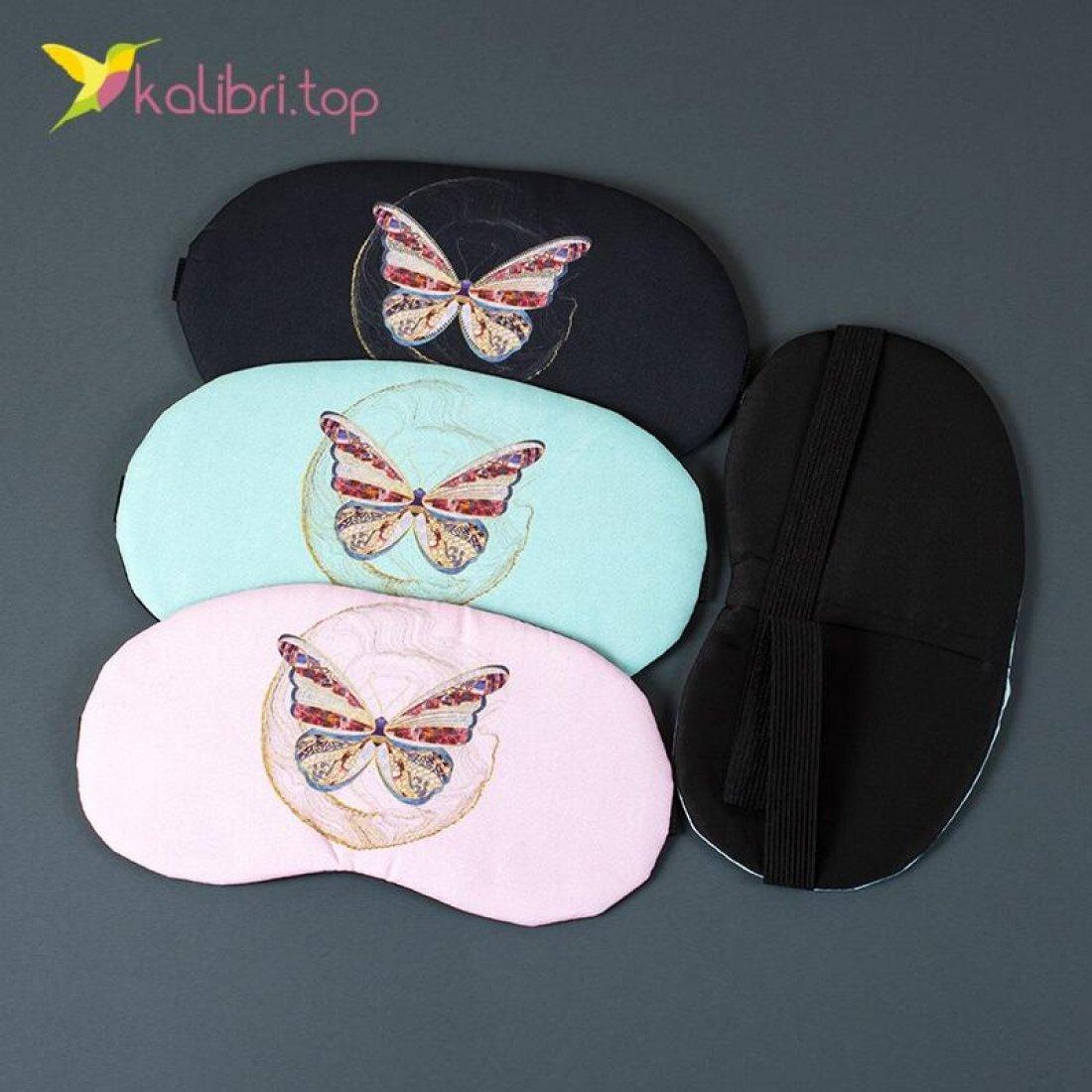 Маска для сна Бабочки цветные оптом фото 02