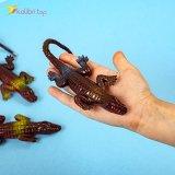 Силиконовые крокодилы коричнево-золотые оптом фото 02