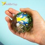 Детские светящиеся мячики на резинке Бабочки 5,5 см оптом фото 01