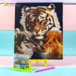 Алмазная мозаика по номерам Тигр, Волк, Лев 21*25 см оптом фото 018