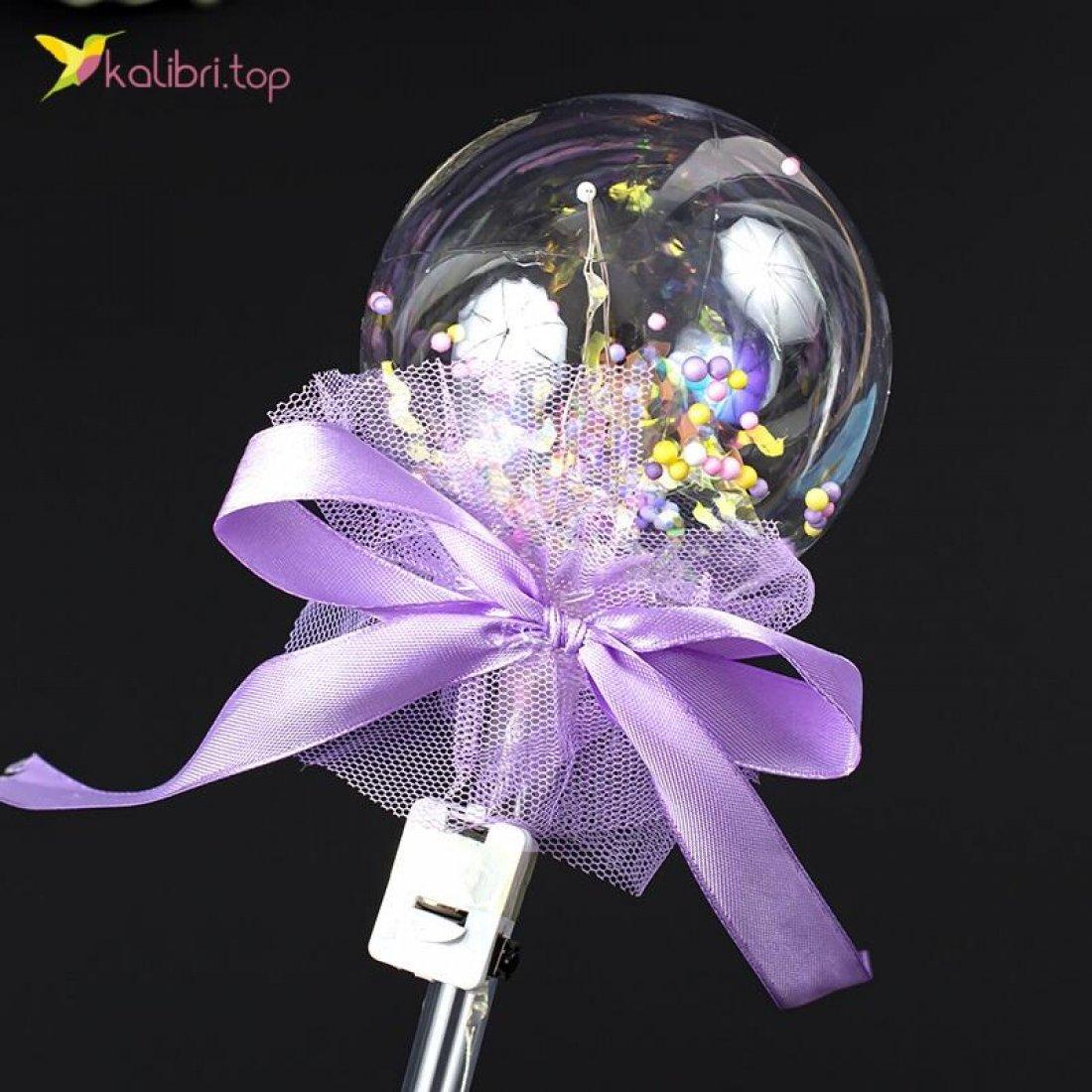 Светящиеся палочки Кругляшки фиолетовый оптом фото 01