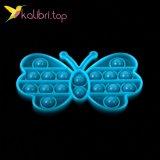 Купить Поп-ит (pop-it) флуоресцентный Бабочка голубой оптом фото 02
