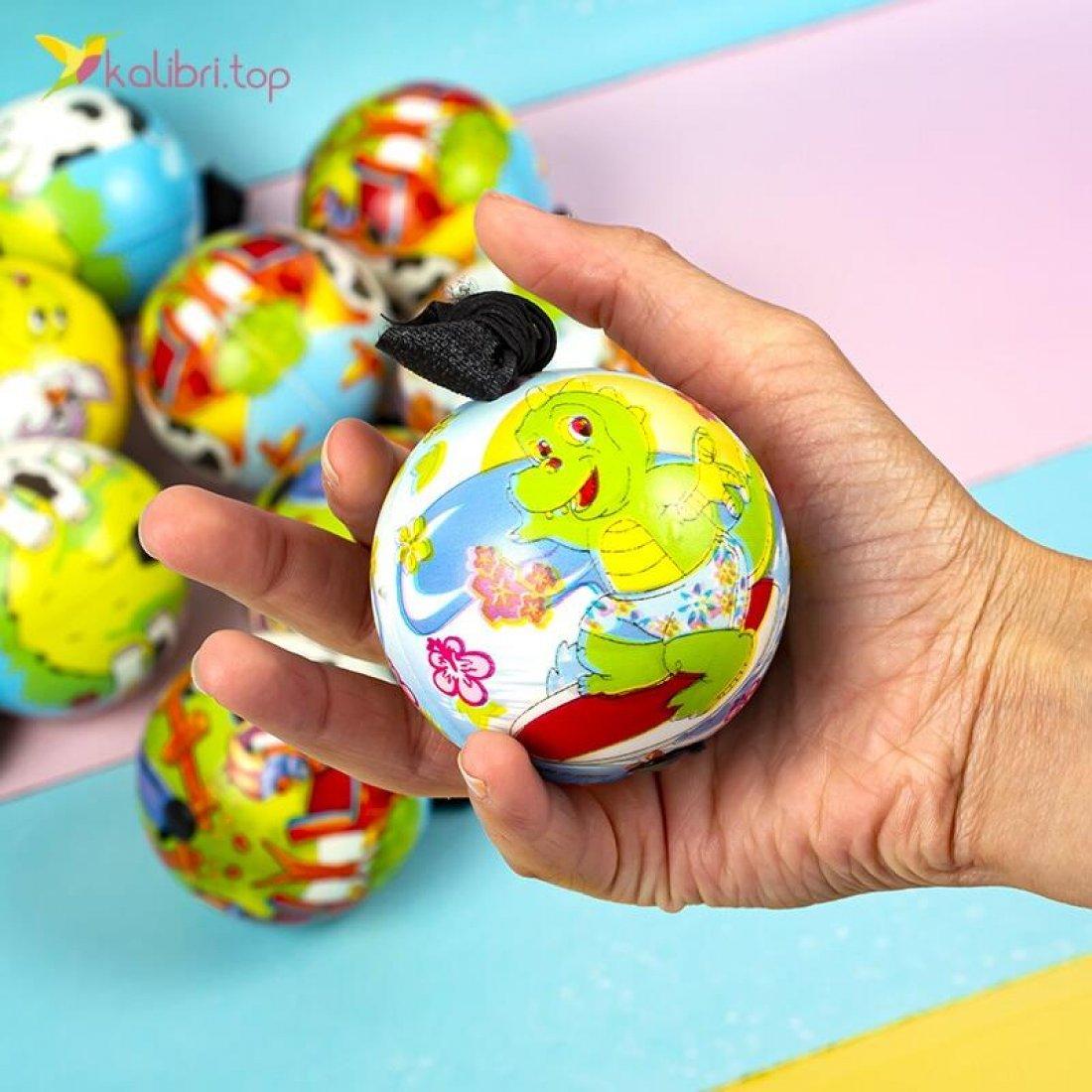 Купить поролоновые мячи Коровки на резинке 6,3 см оптом фото 84