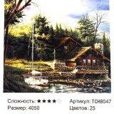 Алмазная мозаика по номерам Изба 40*50 см оптом фото 058