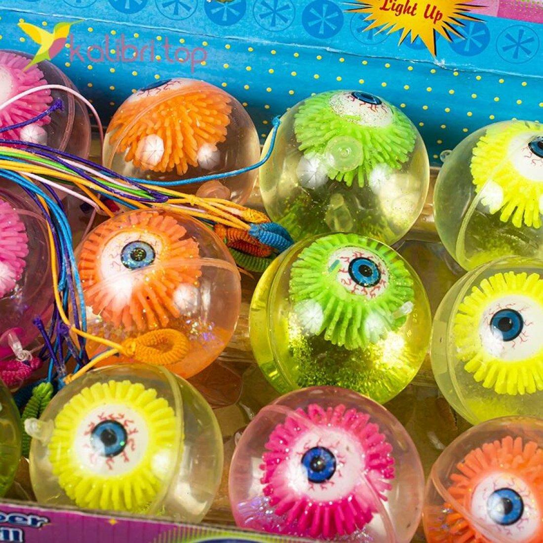 Мячики на резинке Глаза светящиеся 6,5 см оптом фото 03