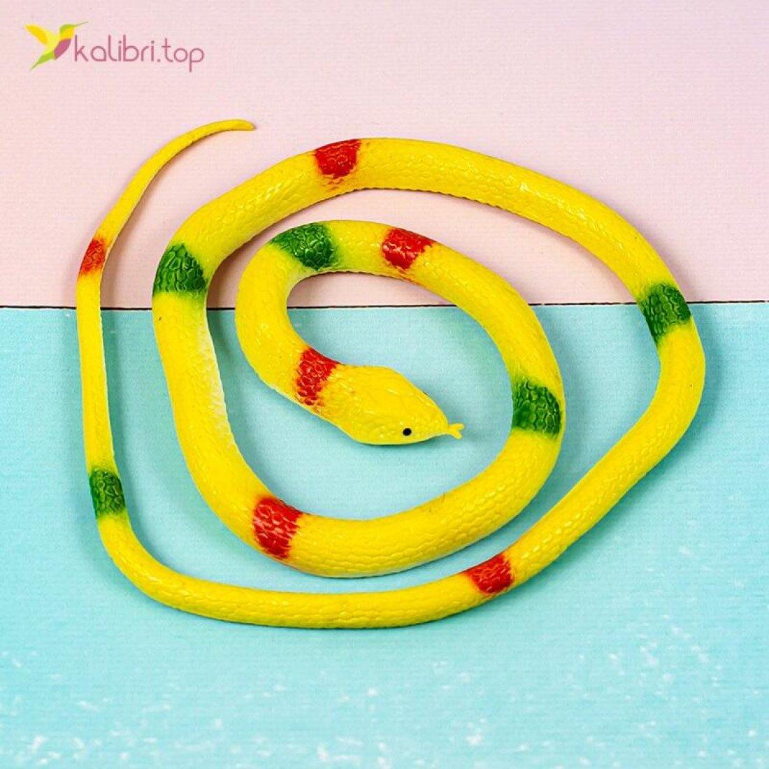 Резиновые змеи питоны жёлтые оптом фото 01