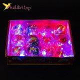 Купить детские светящиеся мячики Бабочки 5,5 см оптом фото 01