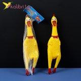 Резиновая кричащая курица 30 см оптом фото 01