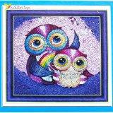 Алмазная мозаика по номерам Совята 30*30 см оптом фото 07