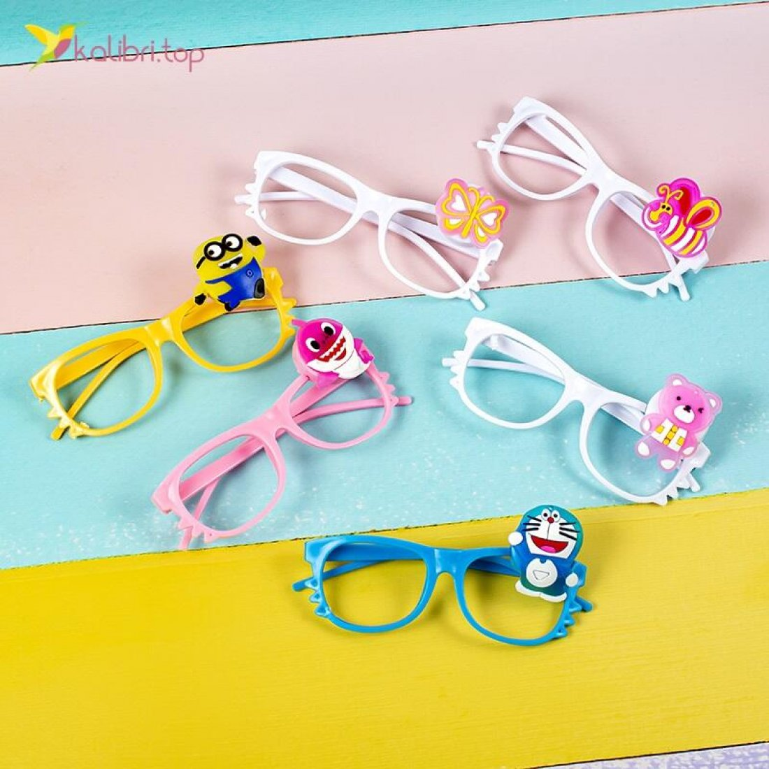 Купить светодиодные очки Микс мультяшек оптом фото 017