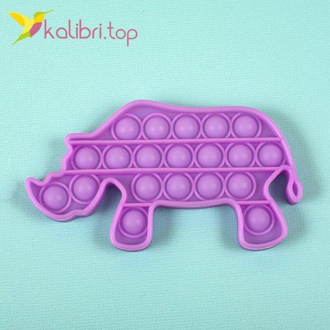 Поп-ит (pop-it) флуоресцентный Носорог оптом фото 01