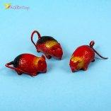 Резиновые мышки красные оптом фото 01