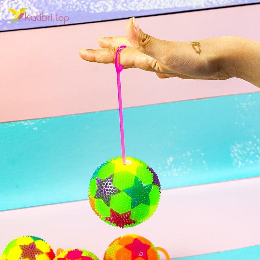 Мячики ёжики светящиеся цветные SA-19 оптом фото 03