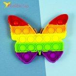 Поп ит (pop-it) Бабочка цветная оптом фото 01