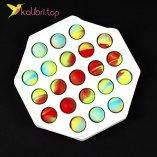 Антистресс Поп ит (pop-it) восьмиугольник пластик оптом фото 01
